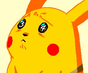 Pikachu scared