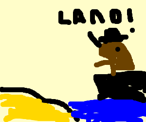 """""""Land!"""" says the pirate otter"""