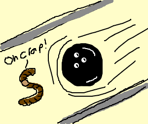 Earthworm Shocked By Incoming Bowling Ball