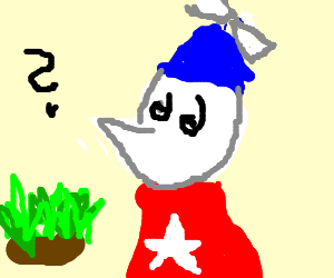 homestar runner is confused by grass patch