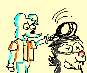 Itchy & Scratchy show featuring Mr. Frying Pan