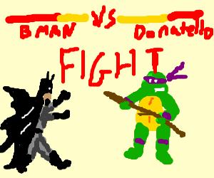 Batman vs Donatello