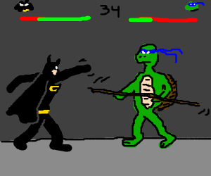 Batman vs Donatello - Street Fighter Style