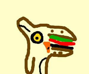 Half owl, half burger