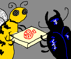 bee deliver pizza to bittle