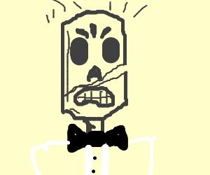 Grim Fandango broke his skull