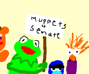 The Muppets run for Senate