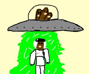 Diglett in a space suit, Dugtrio in UFO