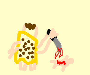 psycho Fred Flintstone slaughters a baby