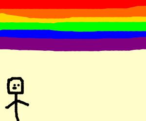 John Lennon under an erroneous rainbow