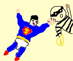 Baby superman seeks justice
