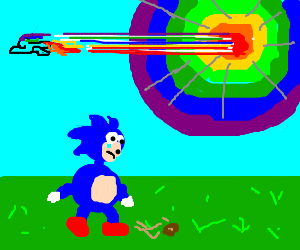 Sonic is jealous that he can't go boom.