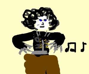 Edward Scissorhands plays the theremin
