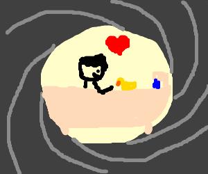 James Bond loves his rubber ducky at bathtime
