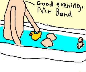JamesBond#24: Man With The Golden Ducky (in tub)
