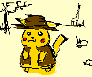 pikachu on safari