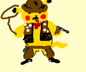 pikachu is a cowboy