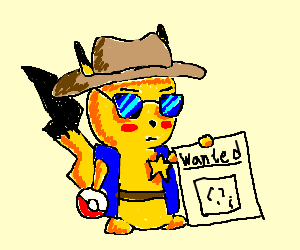 Sheriff Pikachu's gotta catch 'em all!