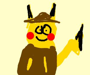 Pikachu becomes a film noir detective