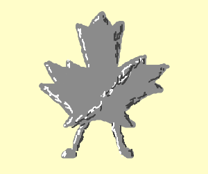 Steel Canada leaf with feet