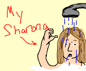 My Sharona in the shower!