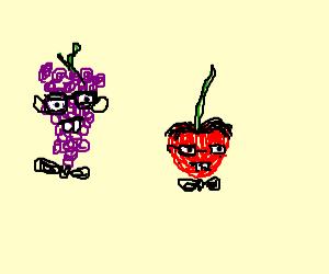 Grape and cherry nerds!