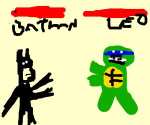 Batman vs Leonardo in Mortal Kombat