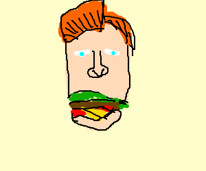 A Conan O'Brien sandwich