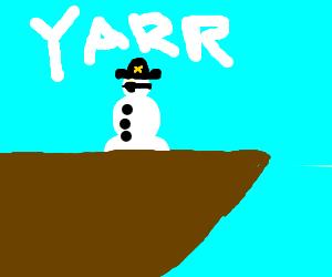 Pirate snowmen rule the high seas