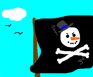 Jolly Roger of Captain Frosty's pirates