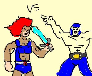 Lion vs. Luchador. Who will win?