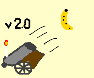 Banana cannon prototype version 2
