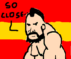 Zangief finds out he failed, he can't believe it
