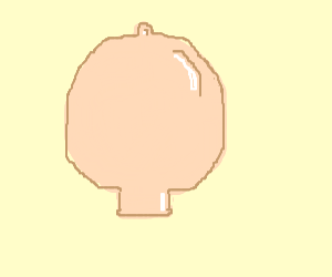 Baby head shaped rubber