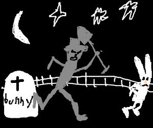 The Undertaker stalks bunnies.