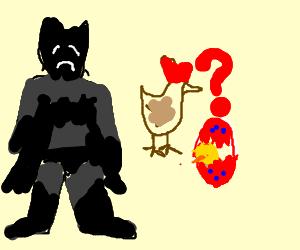 Batman sad because can't understand egg riddle