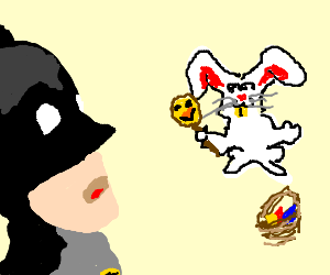Batman finds out the Easter chicken isnt real