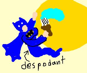 Batgirl paints the moon blue, is despondent