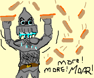 Crusader discovers his love for weiners
