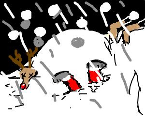 Whiteout blizzard kills Santa and reindeer