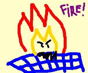 cloth burning