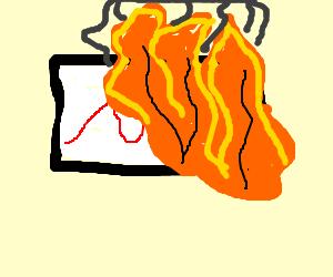 Boring supply/demand chart; set it on FIRE!