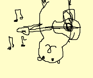 an opossum plays the guitar while upside down