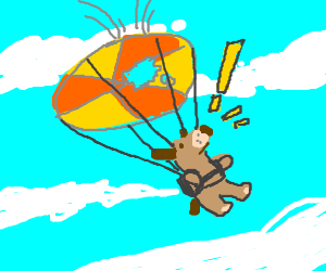 Cat And Dog Parachute Game