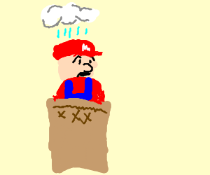 Kuribo's Shoe is replaced by a sack w/ sad Mario