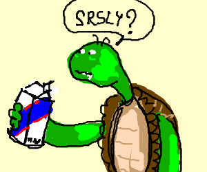 Franklin the turtle drinks a Cola.