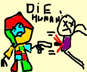 google chrome killbot shoots man