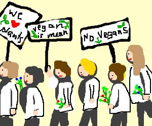 Botanists parade against vegans!