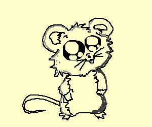 A cute rat with orange hair