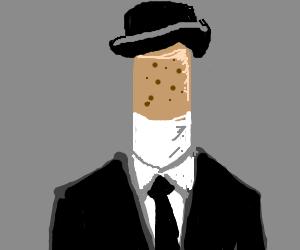 John Steed smoking cigarillo